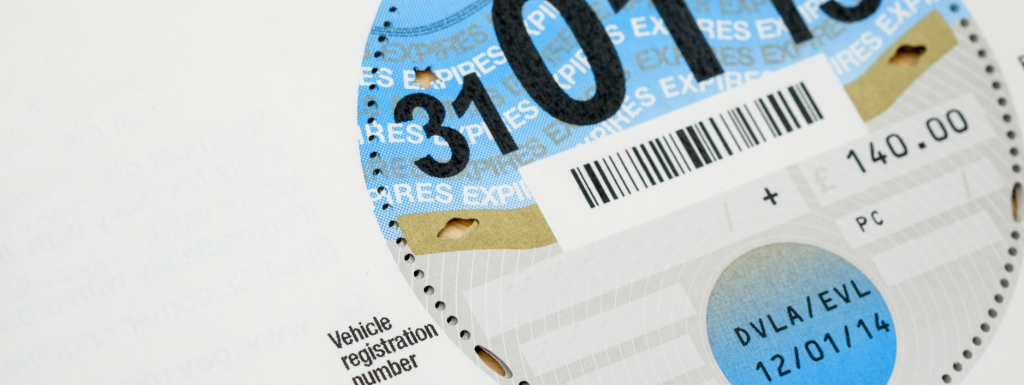 Blue tax disc